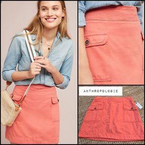 Anthropologie Utility Mini Skirt NWT XL Sz 14 New